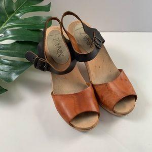 Nina Z swedish hasbeens wooden clogs sandals